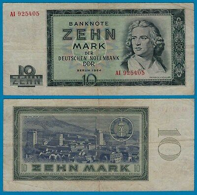 DDR Banknote 10 Mark 1964 Ros. 355a VF (3)     (20974