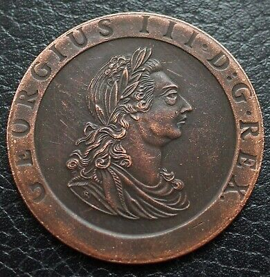 """GEORGE III """"CARTWHEEL"""" TWO PENCE 1797 BRITISH COIN UK Brand New collector coin"""
