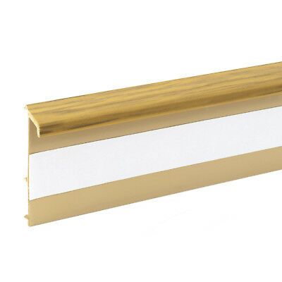 2.5m OAK CARPET SKIRTING board cover wall floor accessories carpeting fitted new
