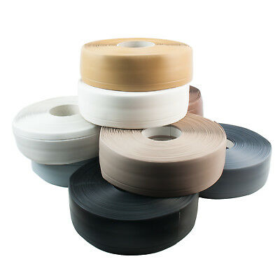 50mm x 15mm FLEXIBLE SKIRTING BOARD PVC floor wall joint cover soft coved strip