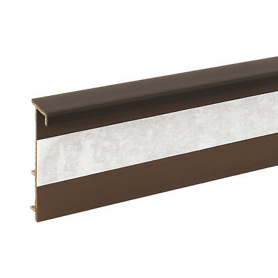 2.5m DARK BROWN CARPET SKIRTING BOARD floor wall cover self-adhesive tape fitted