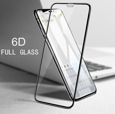 6D Curved Full Cover Tempered Glass Screen Protector For iPhone X