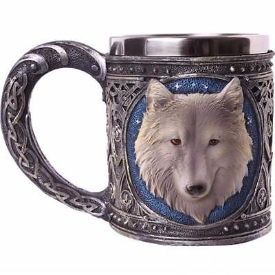 Ghost Wolf Tankard Collectable Vessel Mug - Fantasy Magic Gothic - Nemesis