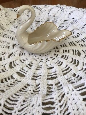 Lenox Swan Hand Decorated Small Swan Figurine With Gold Trim