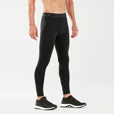 2XU Mens Thermal Compression Tights Bottoms Pants Trousers Black Sports Running
