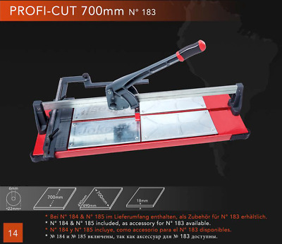 Jokosit Porcelain Tile Cutter 70cm / 700mm Cut Length LIFETIME WARRANTY GERMAN