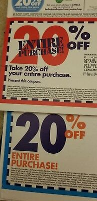Bed Bath & Beyond 1x 20% OFF ENTIRE PURCHASE ORIGINALS  ( NOT PRINT )