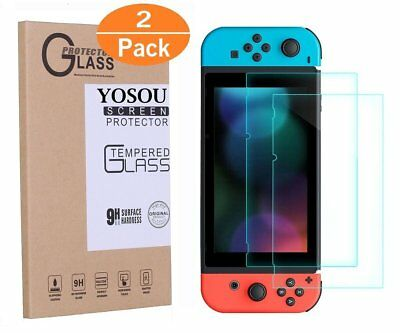 Premium Tempered Glass Pro 2 Pack Screen Protector For Nintendo Switch Console