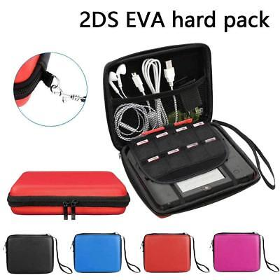 For 2DS EVA Hard Carrying Case Handle Bag Cover with Mesh Pocket