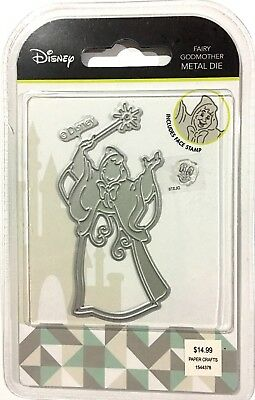 Disney Cut Emboss & Stencil Thin Metal Die & Stamp ~Fairy Godmother
