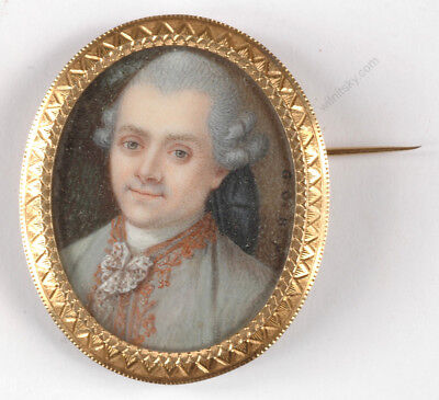 "Guillaume-Gabriel Bouton ""Portrait of an aristocrat"", important miniature! 1770s"