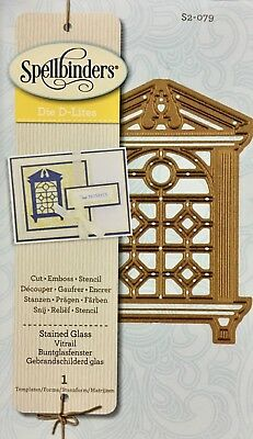 Spellbinder D-Lites Cut Emboss & Stencil Dies ~Stained Glass S2-079