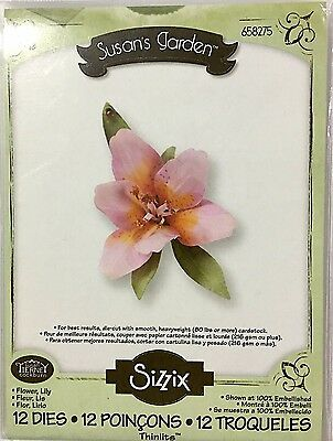 Sizzix Thinlits Die Flower Sets ~Flower Lily (Special Price Was $26)
