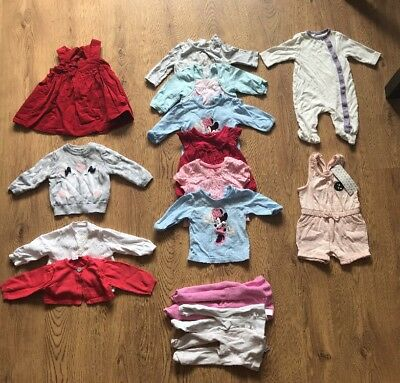baby girl mixed clothing bundle job lot 0-3 months *15 Items* Designer Disney