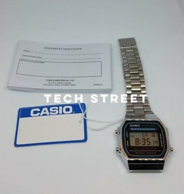 CASIO Classic Unisex Digitial Watch-A168WA-1YES Silver - Perfect Gift