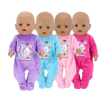 """Handmade doll clothes jumpsuit for 43cm baby born zapf 18""""  girl doll EV"""