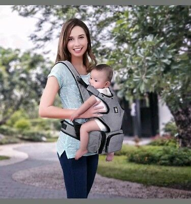 Baby Carrier Ergonomic Up to 50lb Attached Seat & Diaper Bag - Unihope 360°