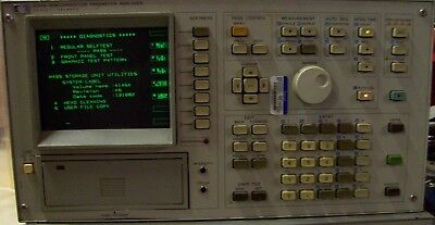 HP Agilent 4145A Semiconductor Parameter Analyzer Powers On Self Test Pass Parts