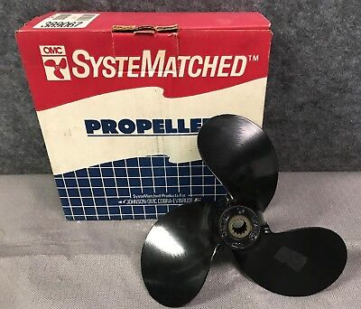 New OEM Johnson / Evinrude 9 1/4 x 7 Aluminum Outboard Propeller # 389067
