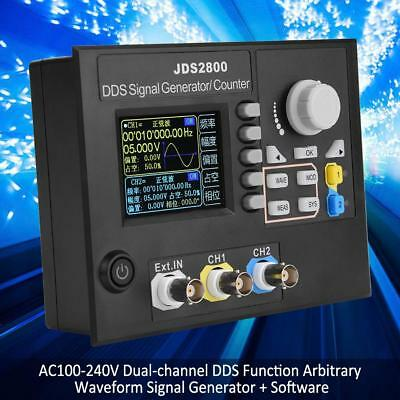 Dual-channel Arbitrary Waveform DDS Function Signal Generator JDS2800 15MHZ