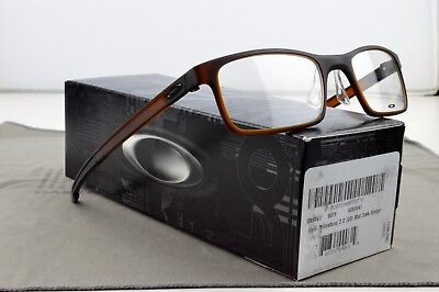 GENUINE OAKLEY Eyeglasses MILESTONE 2.0 OX8047-0450 50mm Matte Dark Amber