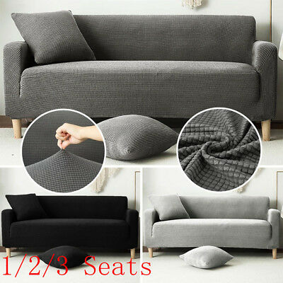 1/2/3 Sofa Couch Slipcover Stretch Covers Elastic Fabric Settee Protector Fit UK