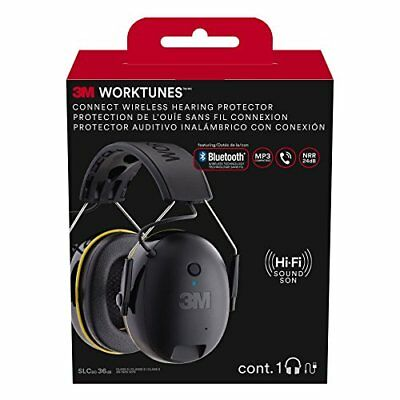 3M WorkTunes Connect Hearing Protector with Bluetooth Technology 90543-4DC **NEW