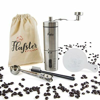 Flafster Kitchen Manual Coffee Grinder- Hand Coffee Bean Grinder With Ceramic Me
