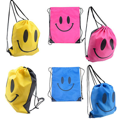 Emoji Bags Nursery Drawstring School Swim PE Kit Sports Gym Kids Unisex Backpack