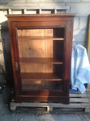 ** VINTAGE BOOK CASE ** lockable glass door