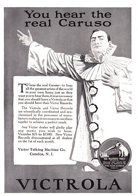 1920 Victrola: You Hear the Real Caruso Vintage Print Ad