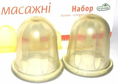 K set 4 Cups Silicone Medical Vacuum Massag Body Anti-Cellulite Cupping Therapy