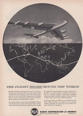 1957 RCA: Flight Heard Around the World Vintage Print Ad
