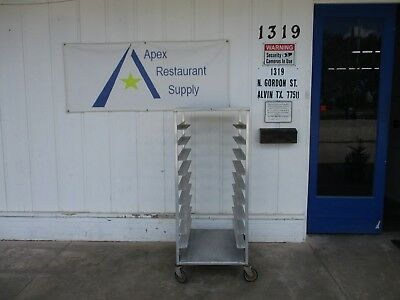 Large Pan Rack w/Casters & 10 Racks Great Condition Commercial #3443