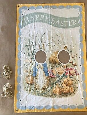 PBK Pottery Barn Kids Beatrix Potter Peter Rabbit Easter Picture Posing Canvas