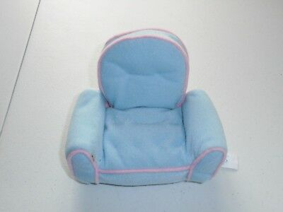 Precious Moments Plush Light Blue Pink Chair Toy Stuffed Polyester RARE 2000