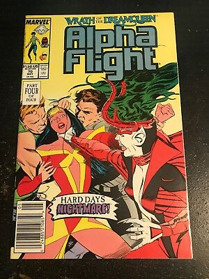 "Alpha Flight#70 Incredible Condition 9.4(1989)""Wrath Of The Dreamqueen"""