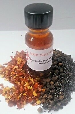 Fiery Wall of Protection Oil Banishing Oil Return to Sender Hoodoo Wicca Oils
