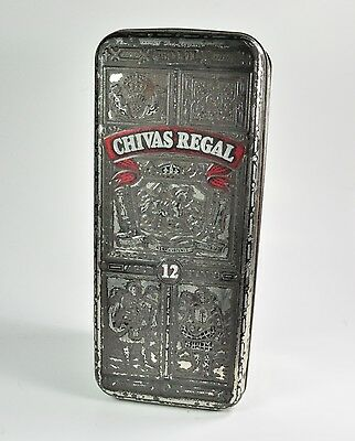 CHIVAS REGAL AGED 12 YEARS EMBOSSED METAL HINGED 750ml BOX SCOTLAND