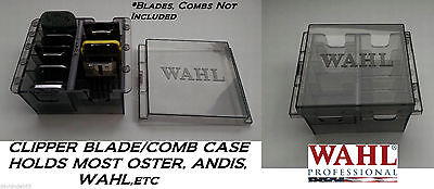 WAHL Clipper BLADE&ATTACHMENT Guide COMB STORAGE CASE Tote*Also For Oster,Andis
