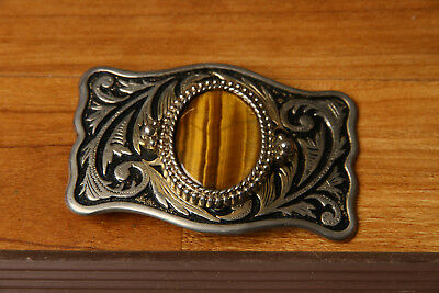 Tigers Eye Belt Buckle Metal