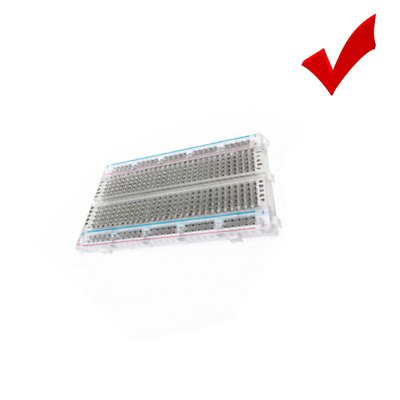 Universal Mini Solderless ABS Breadboard Clear Transparent Material 400 Point