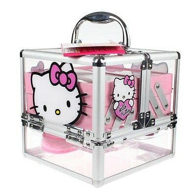 Hello Kitty Girls Train Cosmetic Pink Case - Sold Out- Makeup Not Included