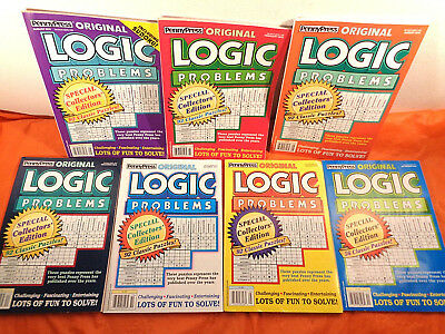 Lot of 7 Penny Press Original Logic Problems, Collector's Editions, 2011-2015