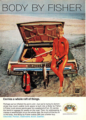 1968 Body by Fisher: Carries a Whole Raft of Things Vintage Print Ad