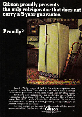 1968 Gibson Refrigerator: Does Not Carry a 5 Year Guarantee Vintage Print Ad