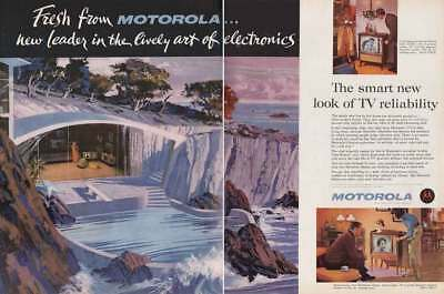1961 Motorola Television: New Leader in the Lively Art Vintage Print Ad