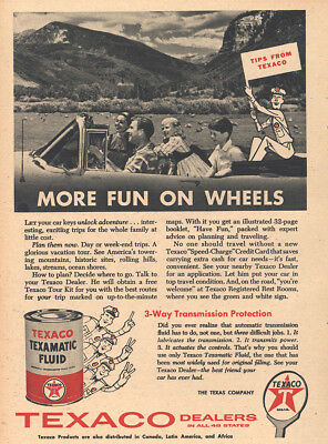 1958 Texaco: More Fun On Wheels Vintage Print Ad