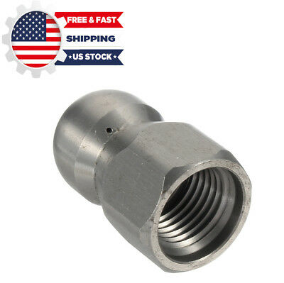 1/4''F Pressure Washer Drain Sewer Cleaning Pipe Jetter Rotary Nozzle 4 Jet US