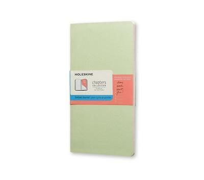 """Moleskine Chapters Collection Dotted Slim Journal New Mist Green  4.5"""" x 8.25"""""""